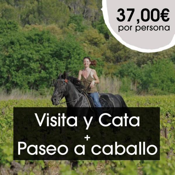 Visita y  Cata + Paseo a caballo