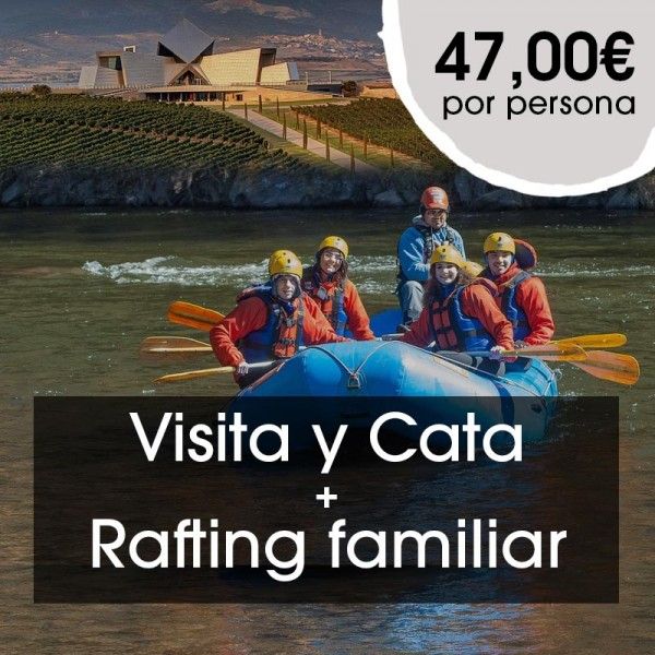 Visita y Cata + Rafting familiar
