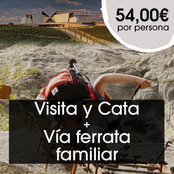 Visita y Cata + Vía ferrata familiar