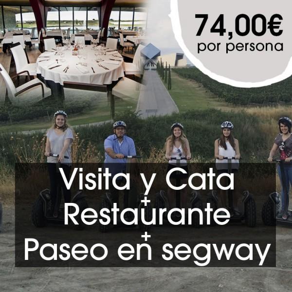 Visita y cata + Restaurante +Paseo en segway
