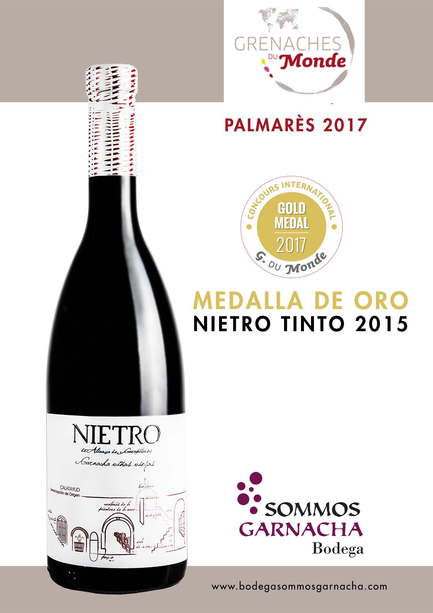 Nietro Tinto 2015 Medalla de Oro - Bodega SOMMOS