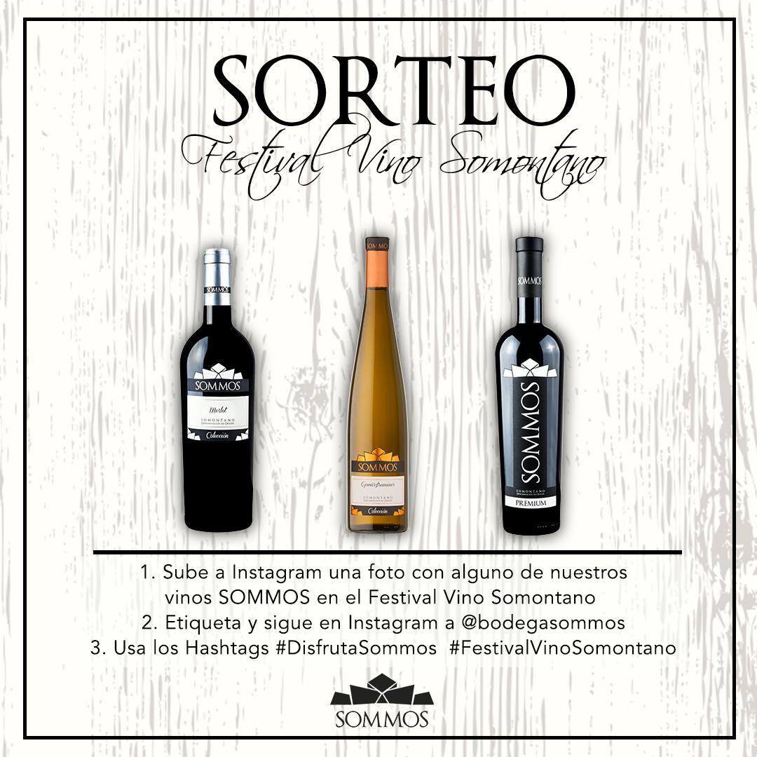 sorteo instagram festival del vino somontano - Bodega SOMMOS