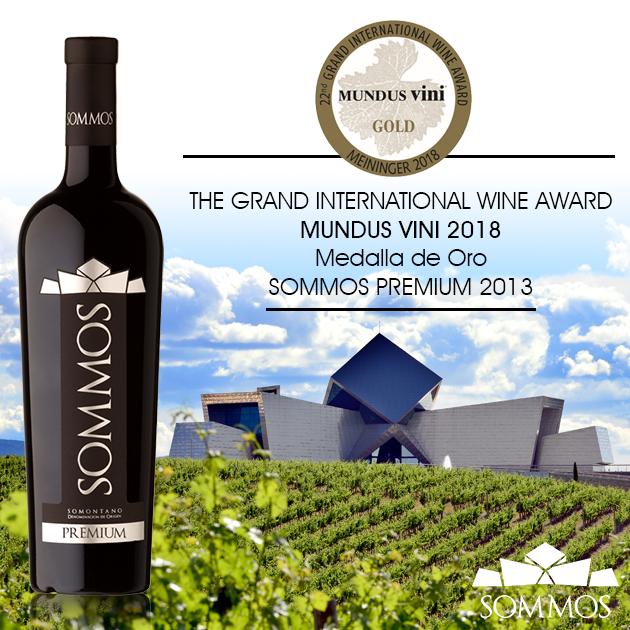 Medalla de Oro en Mundus Vini para SOMMOS Premium 2013
