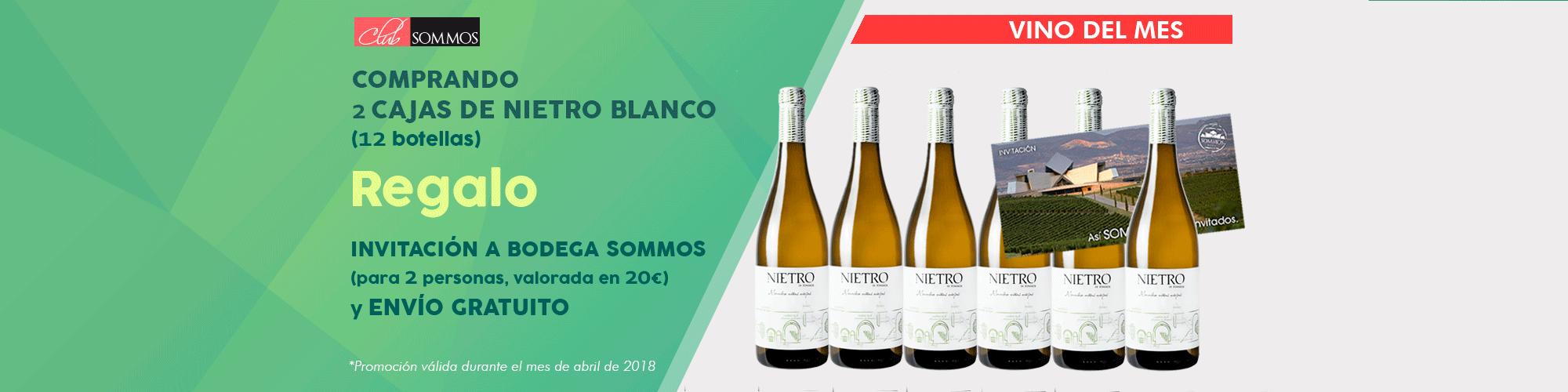 Nietro Blanco vino del mes abril 2018